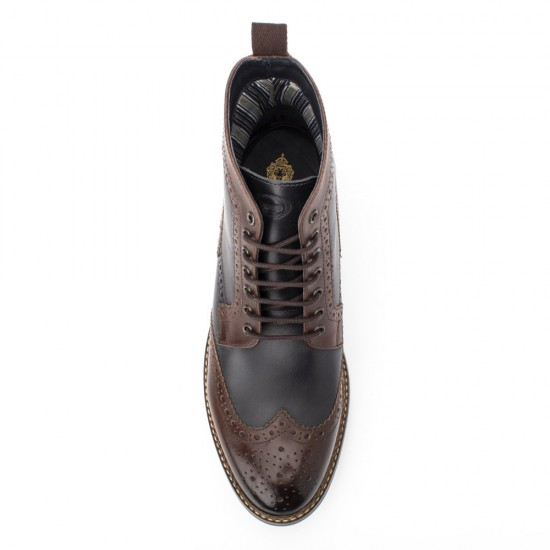 Base London Banner brown navy boots