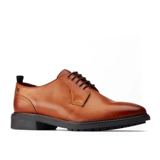 Base London Boston Tan Leather Shoes