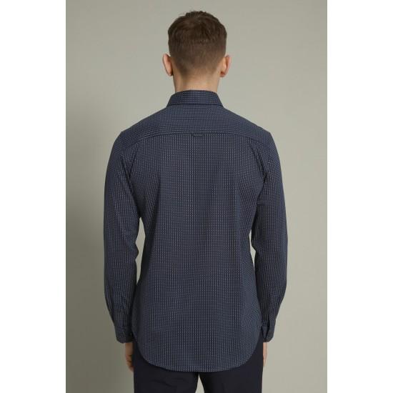 Matinique dark navy shirt with pattern