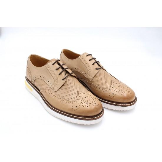 Mulish Beige Brogues Shoes