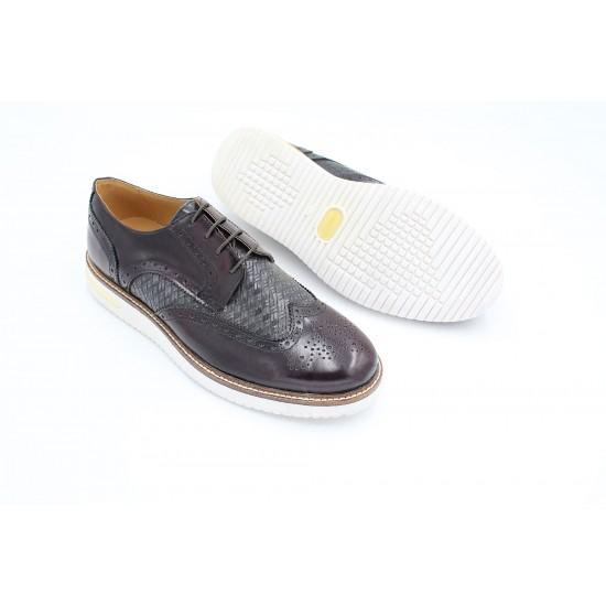 Mulish Burgundy Oxford Brogue Shoes