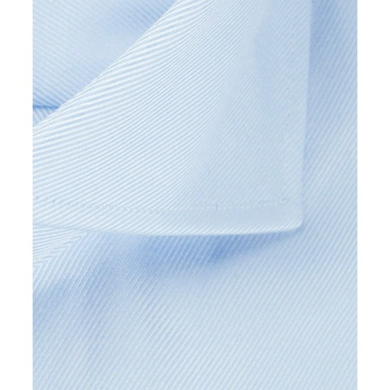 Profuomo Blue Two- ply Twill Shirt