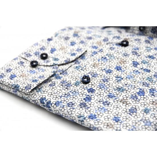Profuomo Floral Poplin shirt