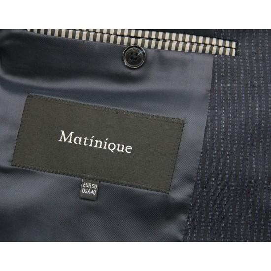 Matinique 2-pc dark navy stripe suit