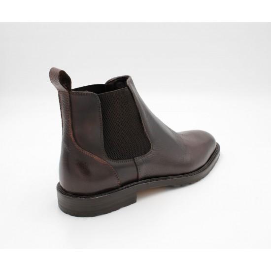 iMaschi Brown Calf Skin Leather Boots